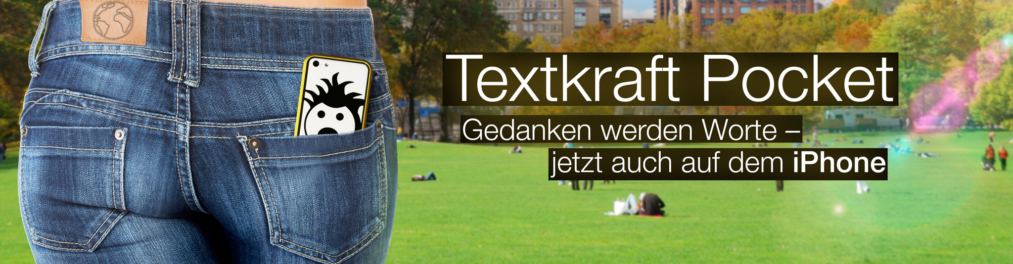 Textkraft Pocket für das iPhone.