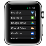 Textkraft Pocket auf der Apple Watch
