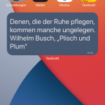 Text-Widgets auf dem Home-Screen, ab iOS 14