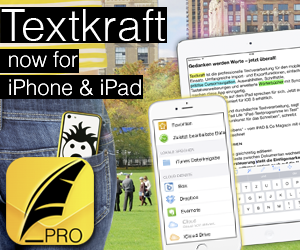Textkraft now on iPhone & iPad