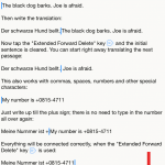 "How to use the ""Extended Forward-Delete"" key. - Tap on the image to enlarge it!"
