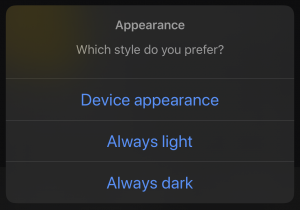 Wise Guy dark mode settings
