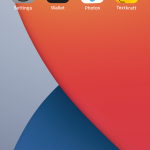 On the home screen, press and hold a widget, app or empty area until the apps are shaking.