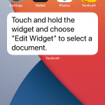 Now press and hold the widget until a menu appears.