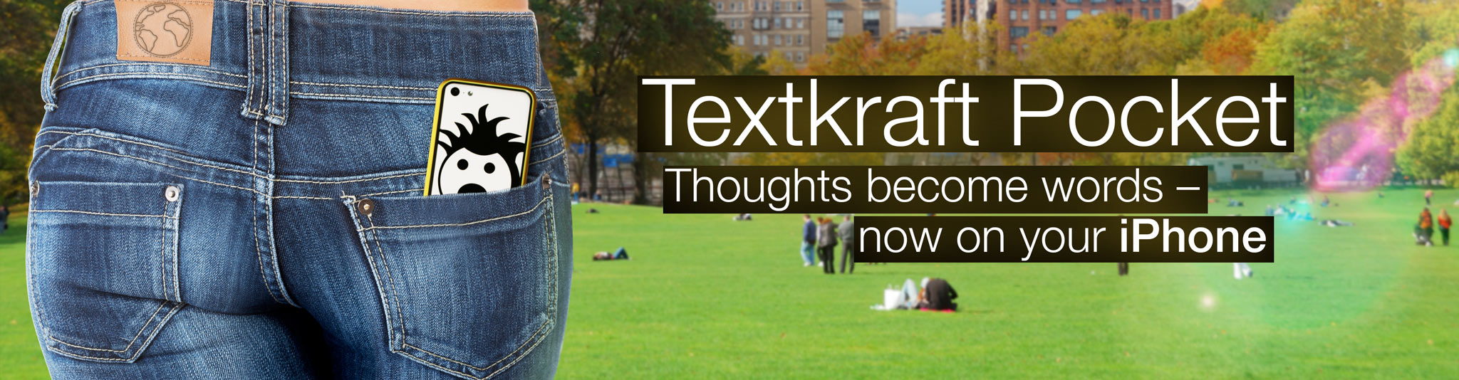 Textkraft Pocket for the iPhone.