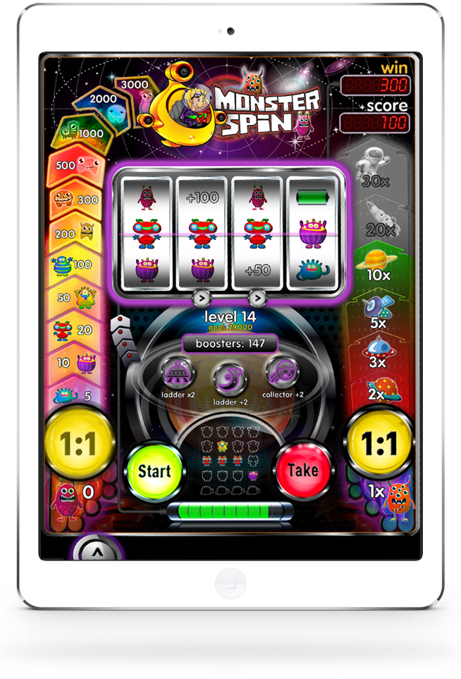 iPad with Monster Spin