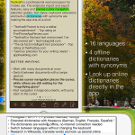 16 offline dictionaries with synonyms in 4 languages (top: sepia theme)
